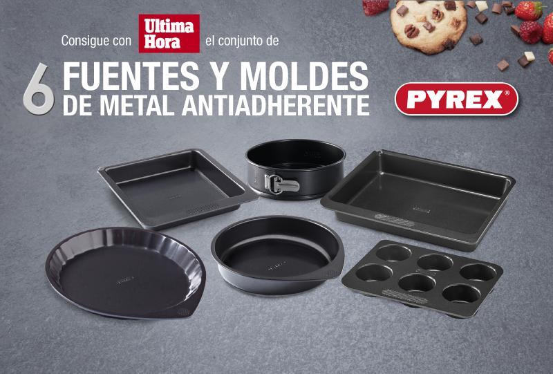Fuentes y moldes de metal antiadherente