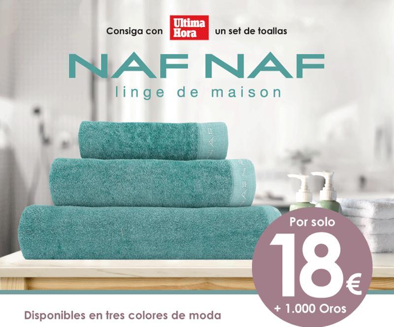 ¡Consigue con Ultima Hora este set de toallas Naf Naf!