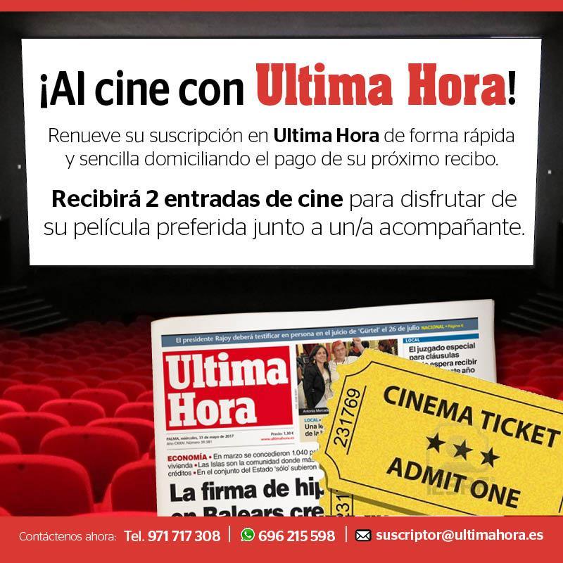 ¡Ultima Hora te invita al cine!