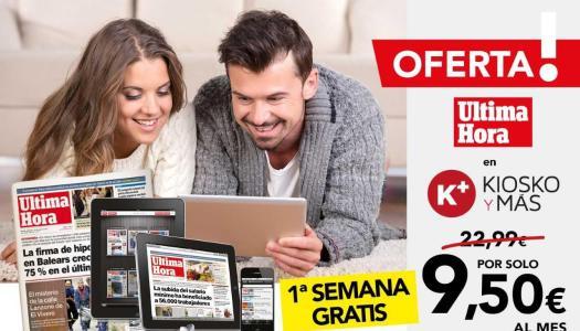 ¡Oferta excepcional de  ultimahora.kioskoymas.com